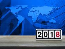 Concepto 2018, elementos de la Feliz Año Nuevo de esta imagen equipados cerca Imagenes de archivo
