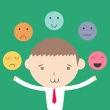 Concepto emocional de la gestión del control del hombre de negocios libre illustration