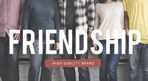Concepto en enlace de la unidad de la vinculación de la diversión de la felicidad de la amistad Foto de archivo libre de regalías