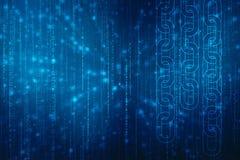 Concepto en fondo de la tecnología, concepto de la cadena de bloque, tecnología digital de la red de la cadena de bloque de la ca imagenes de archivo