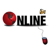 Concepto en línea Imágenes de archivo libres de regalías
