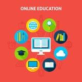 Concepto en línea de Infographic de la educación Fotografía de archivo libre de regalías