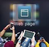 Concepto en línea de la comunicación de la red del sitio web imagenes de archivo