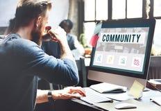 Concepto en línea de la conexión de la comunicación de la comunidad imagen de archivo libre de regalías