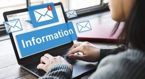 Concepto en línea de la conexión del correo electrónico de la información de datos imagen de archivo libre de regalías