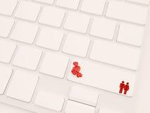 Concepto en línea de la datación Fotografía de archivo libre de regalías