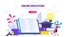 Concepto en línea de la educación libre illustration