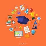 Concepto en línea de la educación Imagenes de archivo