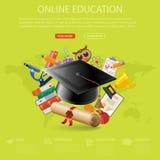 Concepto en línea de la educación Imagen de archivo