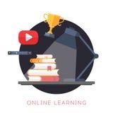 Concepto en línea de la educación del vector Foto de archivo