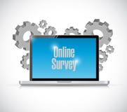 concepto en línea de la encuesta sobre la tecnología del negocio Imagen de archivo