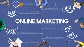 Concepto en línea de la publicidad de la promoción del anuncio del márketing Fotografía de archivo