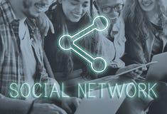 Concepto en línea de la red de la conexión de la comunicación imágenes de archivo libres de regalías
