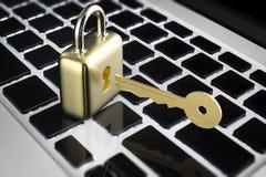 Concepto en línea de la seguridad Fotografía de archivo libre de regalías