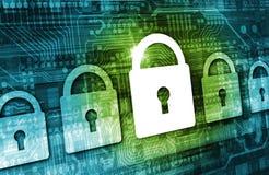 Concepto en línea de la seguridad de datos ilustración del vector