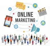 Concepto en línea de la tecnología de la campaña de promoción del márketing imagen de archivo libre de regalías