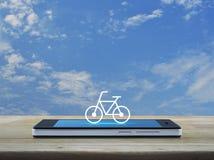 Concepto en línea de la tienda de la bici Fotografía de archivo libre de regalías