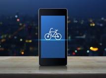 Concepto en línea de la tienda de la bici Foto de archivo libre de regalías
