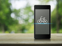 Concepto en línea de la tienda de la bici Imagen de archivo