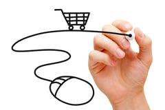 Concepto en línea de las compras imagen de archivo