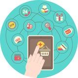 Concepto en línea de las compras libre illustration