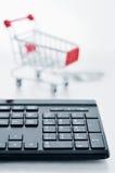 Concepto en línea de las compras fotografía de archivo