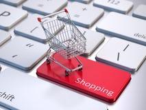 Concepto en línea de las compras ilustración del vector