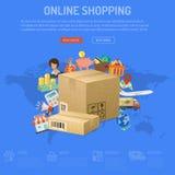 Concepto en línea de las compras Fotos de archivo