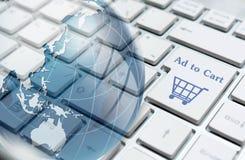 Concepto en línea de las compras Fotografía de archivo libre de regalías