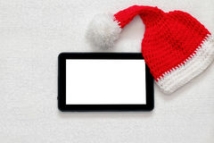 Concepto en línea de las compras del día de fiesta de la Navidad Fotografía de archivo