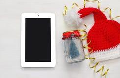Concepto en línea de las compras del día de fiesta de la Navidad Foto de archivo