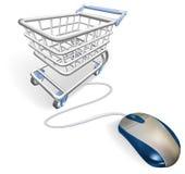 Concepto en línea de las compras del Internet stock de ilustración