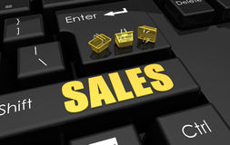 Concepto en línea de las ventas libre illustration