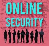 Concepto en línea de los datos de la privacidad de la protección de seguridad Foto de archivo