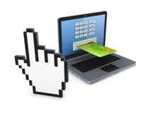Concepto en línea de los pagos. Imagen de archivo