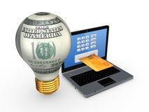 Concepto en línea de los pagos. Foto de archivo libre de regalías