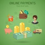 Concepto en línea de los pagos Imagenes de archivo