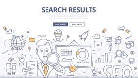 Concepto en línea del garabato de la búsqueda ilustración del vector