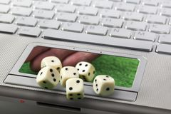 Concepto en línea del juego o del juego Fotos de archivo