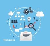 Concepto en línea del negocio - ejemplo Imagenes de archivo