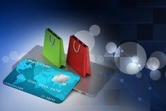 Concepto en línea del pago Foto de archivo
