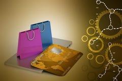 Concepto en línea del pago Imágenes de archivo libres de regalías