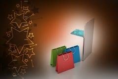 Concepto en línea del pago Imagen de archivo libre de regalías