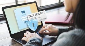 Concepto en línea del phishing de Digitaces Intenret de la seguridad de datos imagenes de archivo