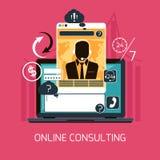 Concepto en línea del servicio de asesoramiento del cliente Fotos de archivo