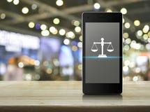 Concepto en línea del servicio jurídico del negocio foto de archivo libre de regalías