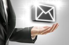 Concepto en línea global de la comunicación imagen de archivo