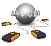 Concepto en línea que hace compras de los comercios electrónicos ilustración del vector