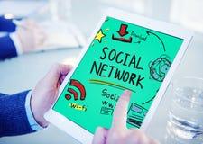 Concepto en línea de la red del medios web social social de Internet WWW Imagen de archivo libre de regalías