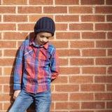 Concepto encantador hermoso del muchacho de moda Fotos de archivo libres de regalías